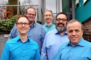 Hintere Reihe von links: Robin kleefisch, Mathias Rabsch Vordere Reihe von links: Thorsten Holzapfel, Franz-Xaver Federhen, Wolfgang Zillich